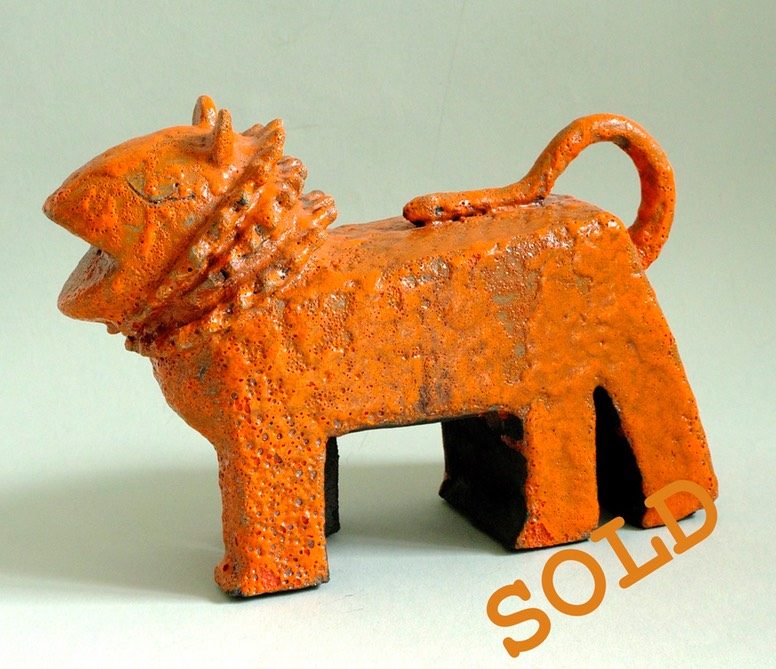 Fantoni-Marcello-Ceramic-Lava-Figure-Cimera-SOLD