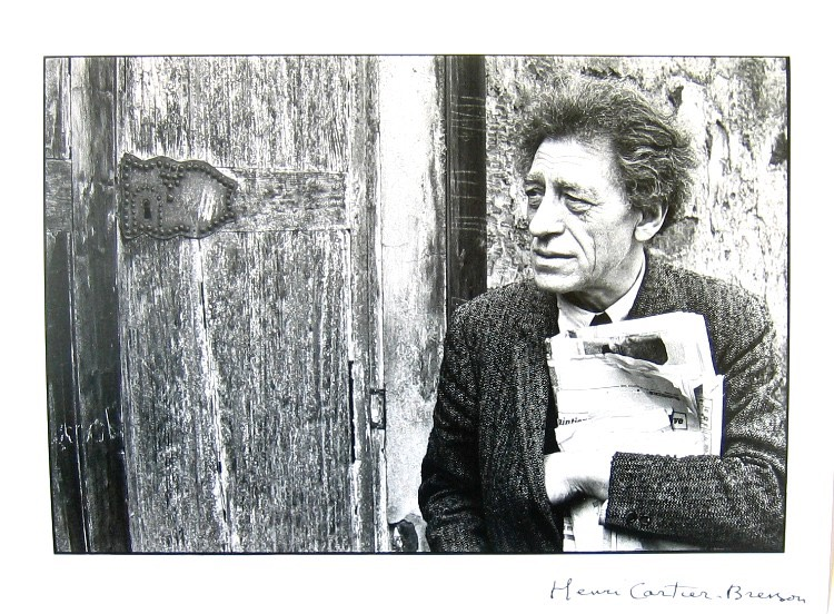 Henri-Cartier-Bresson-Giacometti-Photograph-Signed-Original