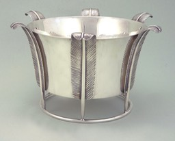 Giò Ponti Sterling silver table center piece